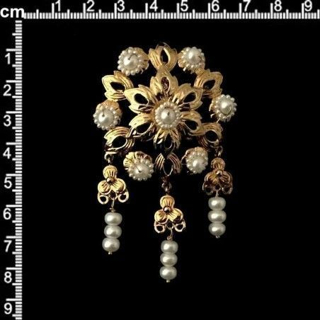 Joya 905 polcas, perla narural, oro.