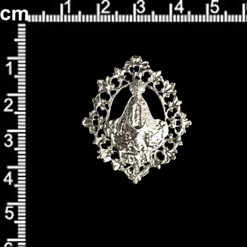 Medalla Virgen Lledó, pequeña, plata.
