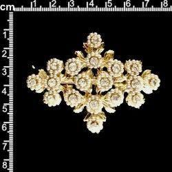 Broche 9205, cristal, oro.