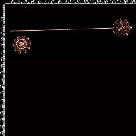 Espada y cañón 907, cristal, oro.