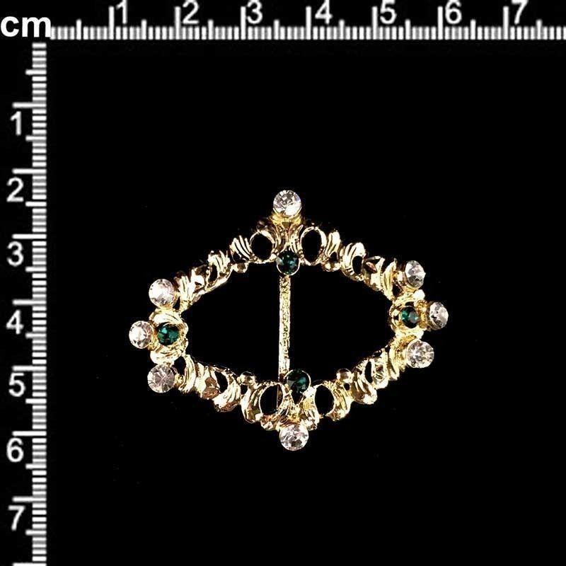 Hebilla 312, esmeralda-cristal, oro.