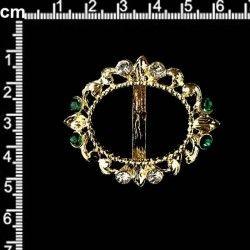 Hebilla 177, esmeralda-cristal, oro.
