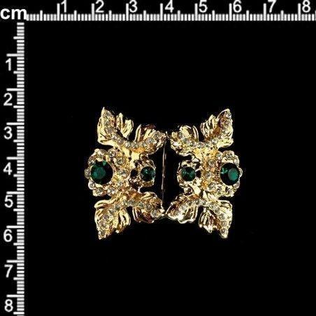 Hebilla 2005, esmeralda-cristal, oro.