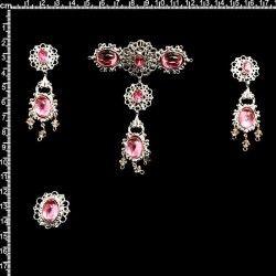 Aderezo de valenciana 2307, rosa, plata.