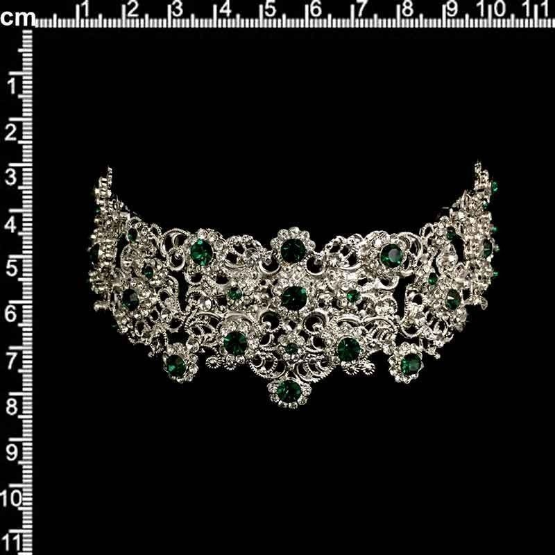 Peineta castellonera 2104, esmeralda-cristal, plata.