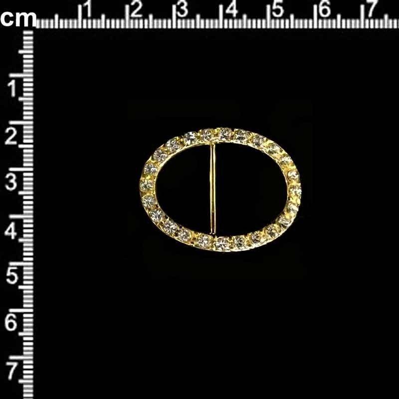 Hebilla de zapato 9474, cristal, oro.