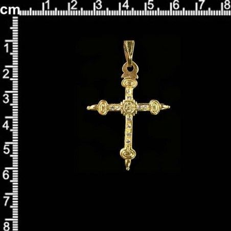 Cruz 217, cristal, oro.