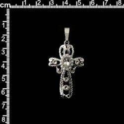Cruz 603, cristal, plata.