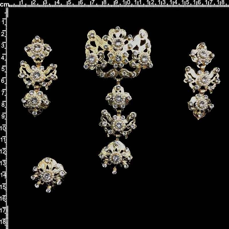 Aderezo de valenciana 995, cristal, oro.