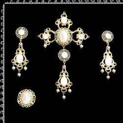 Aderezo fallera 2318, nácar, cristal, oro
