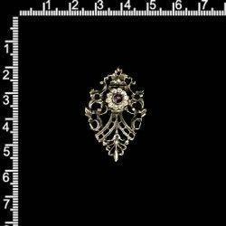 Dije colgante 16324, morado (amatista), acero viejo (níquel viejo).