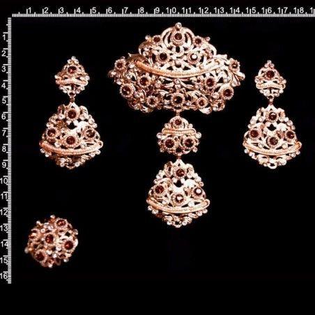 Aderezo 226, topacio smoked-cristal, cobre.
