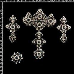 Aderezo de valenciana, 2308, montana, plata oxido.