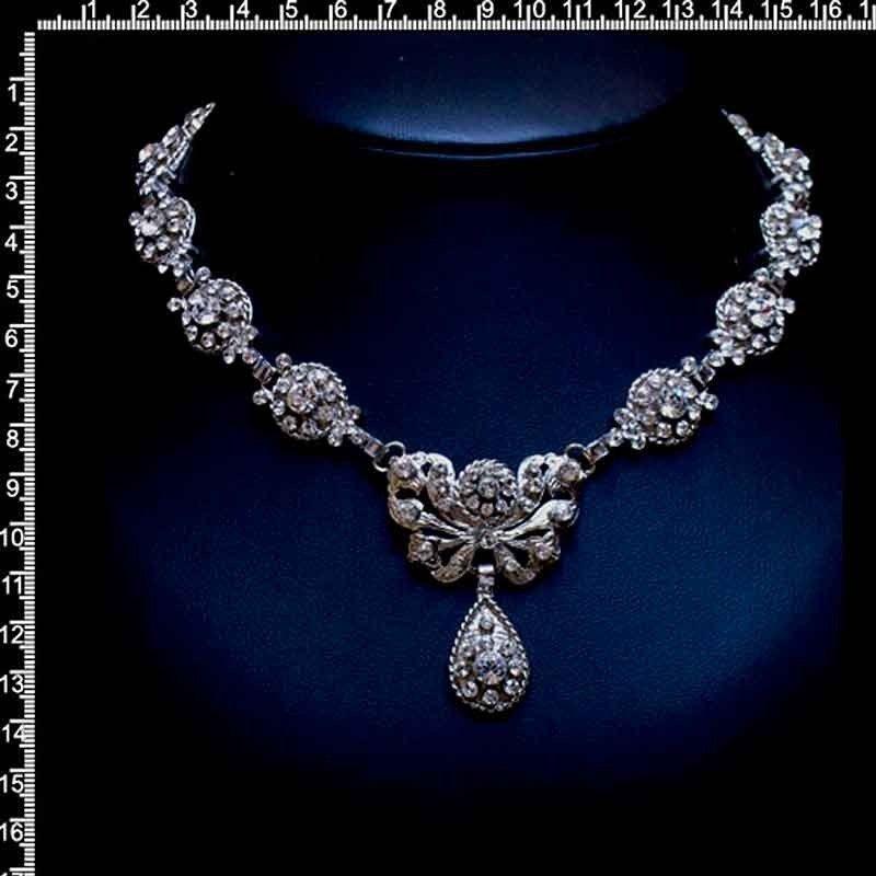 Gargantilla 972, cristal, plata.