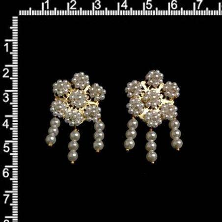 Pendientes de polcas, 9104, oro.