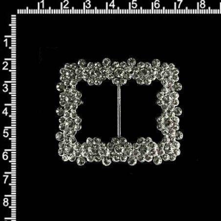 Hebilla 1420, cristal, rodio.