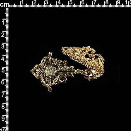 Abaniquero 6300, cristal, oro viejo negro.