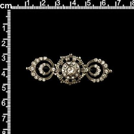 Broche 9807, cristal, níquel viejo.