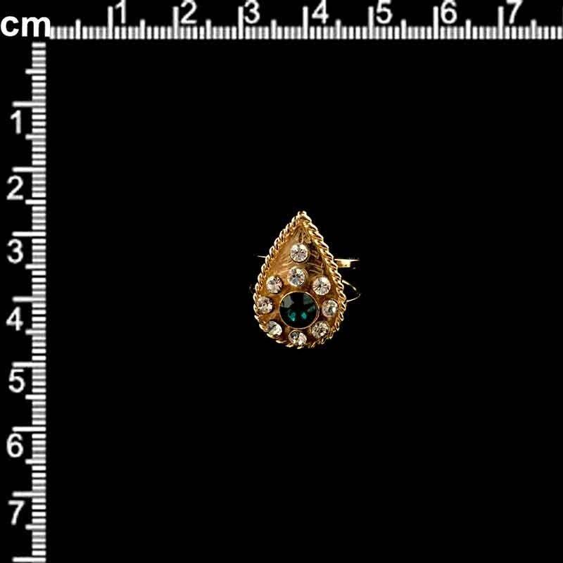 Sortija 972, esmeralda, oro.