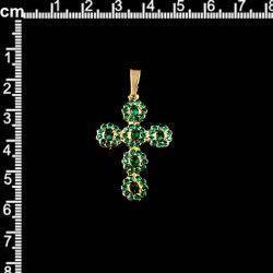 Cruz 13224, todo esmeralda, oro.